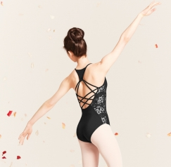 mirella enchanted garden strappy leotard