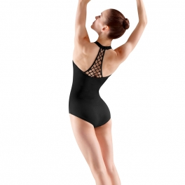 mirella rouleaux beaded back leotard