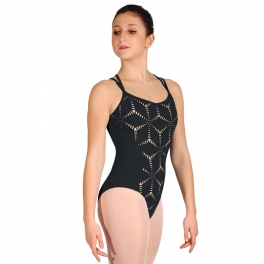 jozzette for mirella origami cross strap leotard