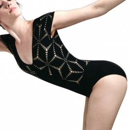 jozzette for mirella origami cap sleeve leotard