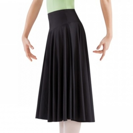 mirella knee length spandex circular skirt