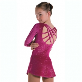 figure skating dresses mondor glitter velvet long sleeve dress