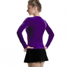 mondor velvet long sleeve skating top