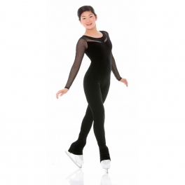 mondor velvet long sleeve unitard