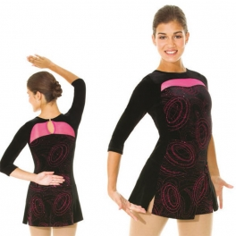 mondor 3/4 sleeve ice skating dress
