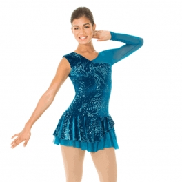 mondor asymetric ice skating dress