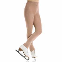 mondor naturals satin footless skating tights