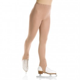 mondor naturals satin stirrup skating tights