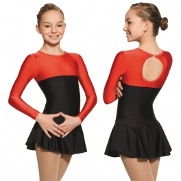 mondor long sleeve 2-tone skating dress