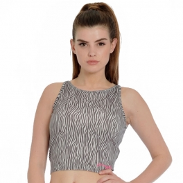 pineapple zebra midi crop top