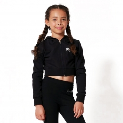 pineapple dancewear crop diamante zip jacket