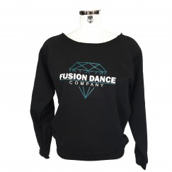 fusion dance co slash neck sweat