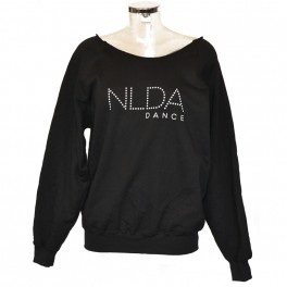 nlda long sleeve slash neck sweat