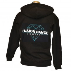 fusion dance co zipped hoodie