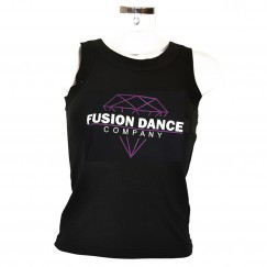 fusion dance co round neck vest