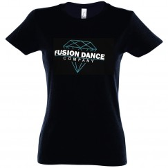 fusion dance co slim fit tee