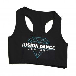 fusion dance co racer back cropped top