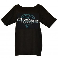 fusion dance co slash neck tee