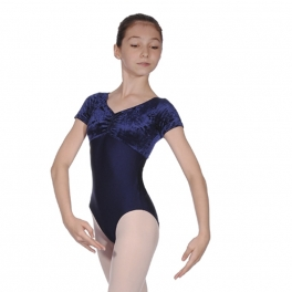 roch valley teresa velour short sleeve leotard