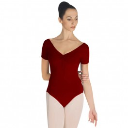 sansha laura short sleeved leotard