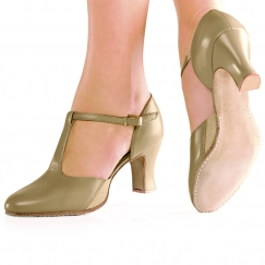 "so danca 2.5"" stretch insert leather character shoe"