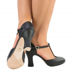 "so danca 3"" t bar leather character shoe"