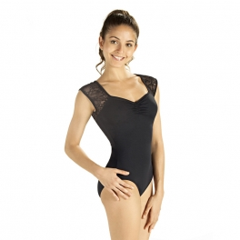 so danca floral lace cap sleeve leotard