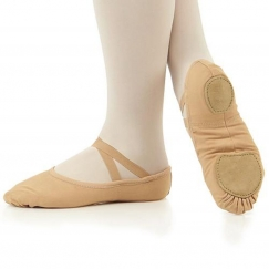 so danca nude stretch canvas split sole ballet shoe
