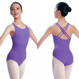 sonata double strap cotton cami leotard