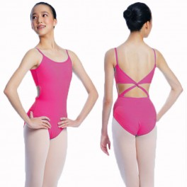 sonata twist back cotton camisole leotard