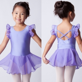 sonata ruffle sleeve skirted leotard