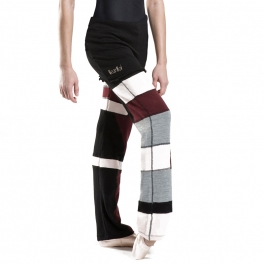 wear moi adonis knitted patchwork pants