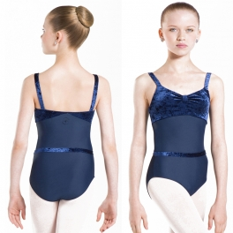 wear moi angeline velvet camisole leotard
