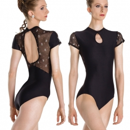 wear moi aristie mini flower cap sleeve leotard