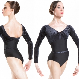 wear moi bianca velvet long sleeve leotard