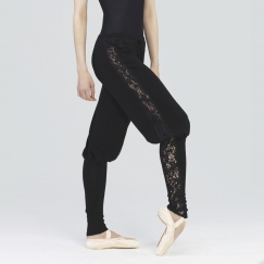 wear moi brume knitted lace warm up pants