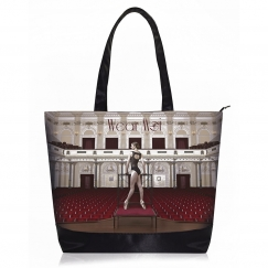 wear moi printed tote bag