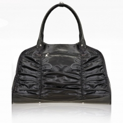 wear moi luxury pleated satin dance tote bag