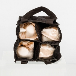 wear moi four pair honeycomb pointe shoe bag