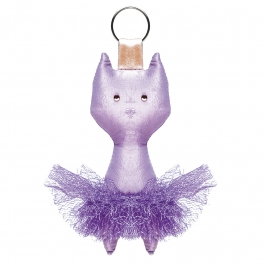 wear moi taffeta cat key chain