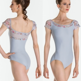 wear moi erell floral mesh skirted leotard