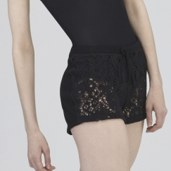 wear moi fango knitted lace warm up shorts