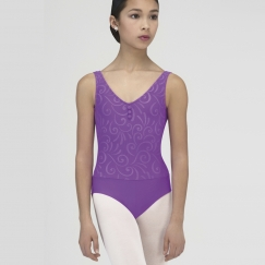 wear moi incas embossed microfibre tank leotard