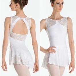 wear moi indira high neck skirted leotard