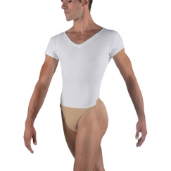 793368fdbb wear moi ivan mens v-neck cotton short sleeved leotard
