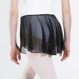 wear moi kora stretch dotted tulle skirt
