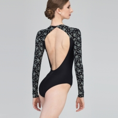 wear moi ladiva mini flower long sleeve leotard
