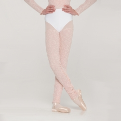 wear moi louki heather knitted thigh length legwarmers