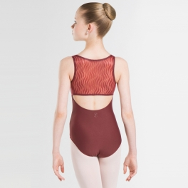 wear moi madeline wave mesh tank leotard