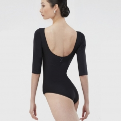 wear moi milo three quarter sleeve microfibre leotard